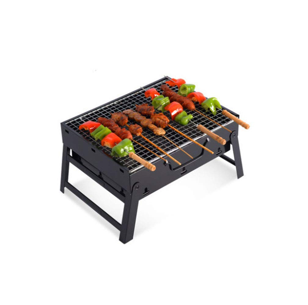 Dygzh Camping Grill Outdoor Folding Home Portable Carbon Barbecue Wild Picnic Wood Carbon Stainless Steel Barbecue - Camping and Trailing Suitable for Camping Outdoor Gardens by Dygzh