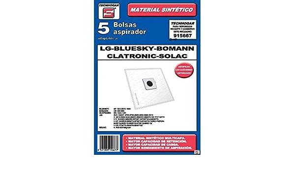 Tecnhogar 915667 Bolsa Aspirador, Blanco