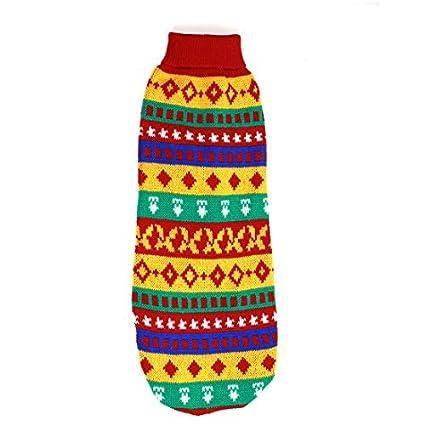 eDealMax Raya el Modelo Para mascotas Cuello Alto suéter tamaño S colorido