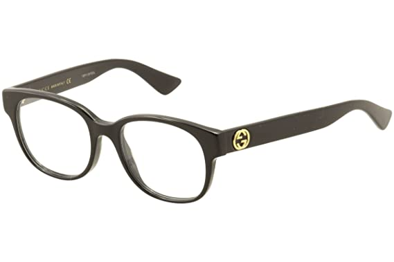 Amazon Gucci Gg0040o Optical Frame Acetate Black Clear