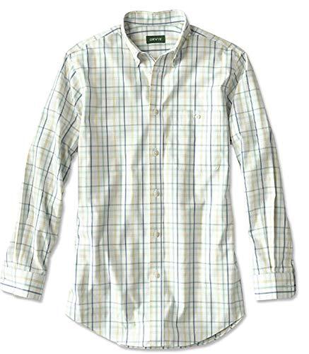 Orvis Men's Pure Cotton Wrinkle-Free Pinpoint Oxford Shirt/Regular, Ultramarine YLW, X Large