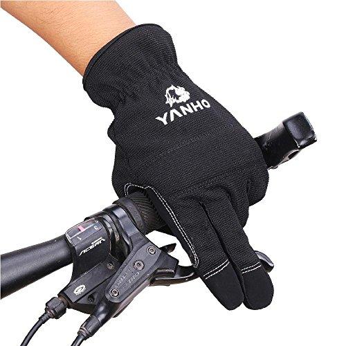 幻滅する教会チップサイクリング グローブ 手袋 フルフィンガー式 冬グローブ スポーツ手袋 ナイロン 防風 防寒 滑り止め ブラック