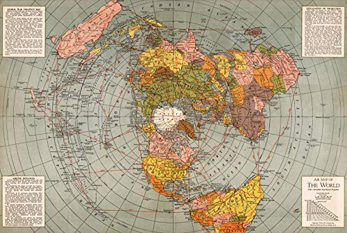 """Riley Creative Solutions  1943 Flat Earth World Map 