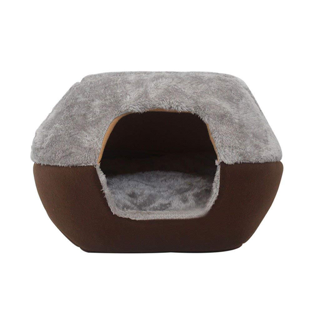 A 453832cmCat Sleeping Bag Pet Bed Pet Closed Bed Small Pet Sleeping Pad Cat House Keep Warm Pet Supplies  @ (color   A, Size   45  38  32cm) Soft Pad for Pets Sleeping ( color   A , Size   453832cm )