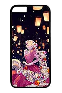 Xuey for iPhone6 Plus Case Drawing Lovely Girl-22-Black Border Shockproof phone back shell + Retail Packaging