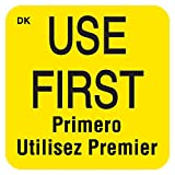 "DayMark""USE FIRST"" Trilingual Permanent Label, 1"" x 1"", (Roll of 1000)"
