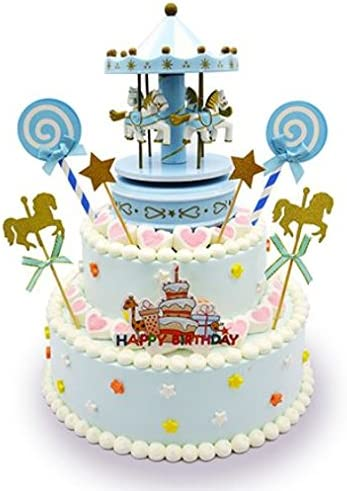 Fine Amazon Com Carousel Happy Birthday Cake Bunting Topper Cake Personalised Birthday Cards Paralily Jamesorg