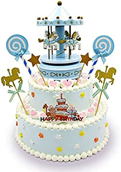 Fine Carousel Happy Birthday Cake Bunting Topper Cake Topper Garland Funny Birthday Cards Online Aeocydamsfinfo