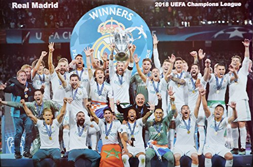 (Real Madrid UEFA Champions League Winner 2018 Football Soccer Wall Decoration Poster (#004))