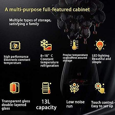 YFGQBCP Multifuncional Enfriador de Vino, Advanced termoeléctrica Enfriador de Vino, Independiente Refrigerador con Silent Operación