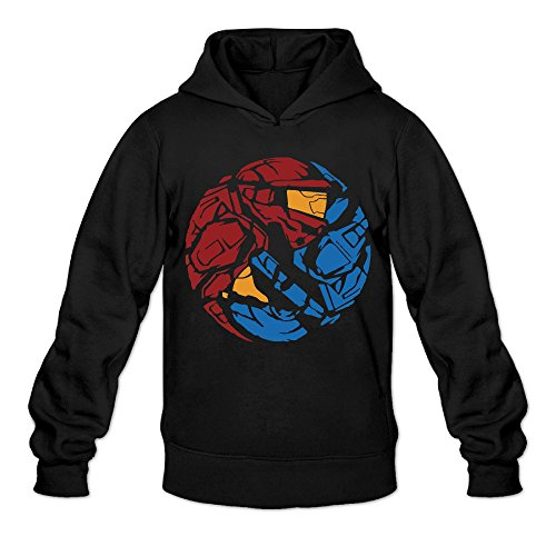 Classic Army Reinforced (Retro Red Vs Blue Classic Men's Hooded Hoodies Black)