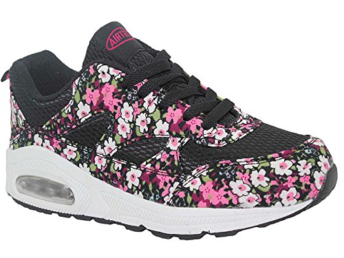 Ladies Running Trainers Air Tech Shock Absorbing Fitness Gym Sports Shoes Size 4 - 8 Pink Floral o8yrpM