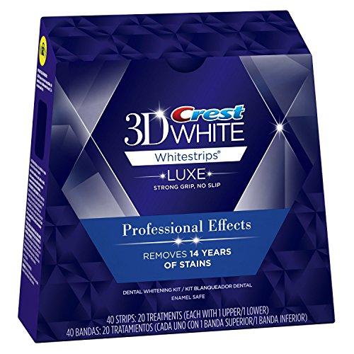 Crest 3D AllWhite Luxe Whitestrips Professional Effects Teeth Whitening Kit Jumbo Pkg of 40 Treatments ()