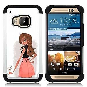 For HTC ONE M9 - COCKTAIL DRINK ALCOHOL GIRL WOMAN CLUB Dual Layer caso de Shell HUELGA Impacto pata de cabra con im??genes gr??ficas Steam - Funny Shop -