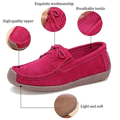 Rubber Women's HooyFeel Loafers Slippers Blue Moccasin Slip Anti Sole PvPXCxd