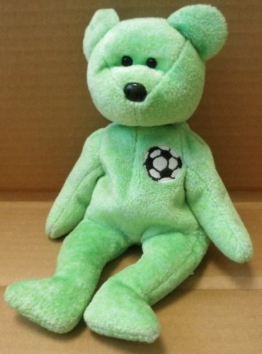 TY Beanie Babies Kicks the Soccer Bear Plush Toy Stuffed Animal (Babies Beanie Kicks)