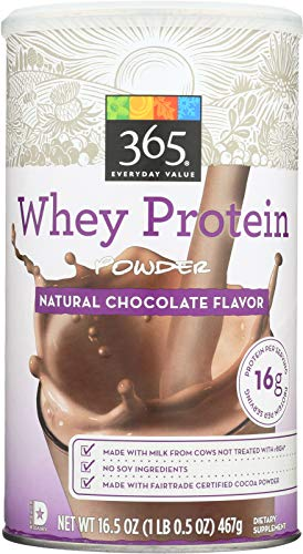 365 Everyday Value, Whey Protein Powder, Natural Chocolate Flavor, 16.5 oz (Best Value Whey Protein)