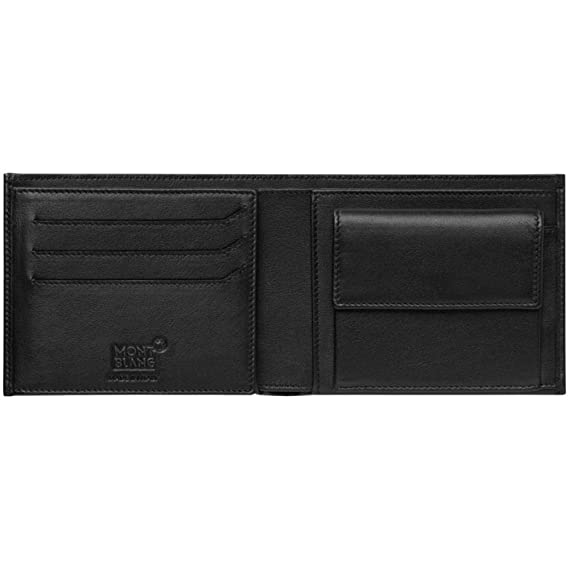 Mont Blanc 118277 My nightflight Cartera 9 cc piel 12,2 x 9,5 cm, con monedero negro