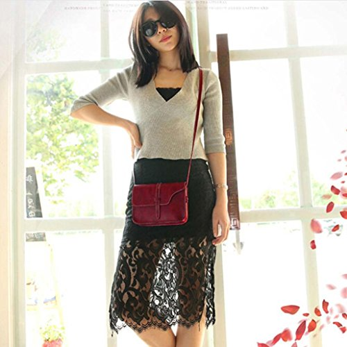 Crossbody Bag Shoulder Leather Handle Shoulder Body Red Bag Paymenow Messenger Cross Leisure Bag Little p7qrfp
