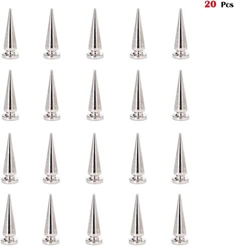 10mm x 29mm Spike Cone Screw Punk Studs Rivet Craft DIY For Leather Jeans Shoes