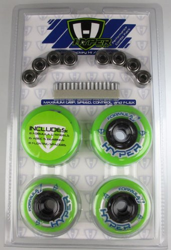 HYPER HOCKEY Inline Skate Wheels Hi/Lo 72mm/80mm Performance Combo 8-Pack # 130510