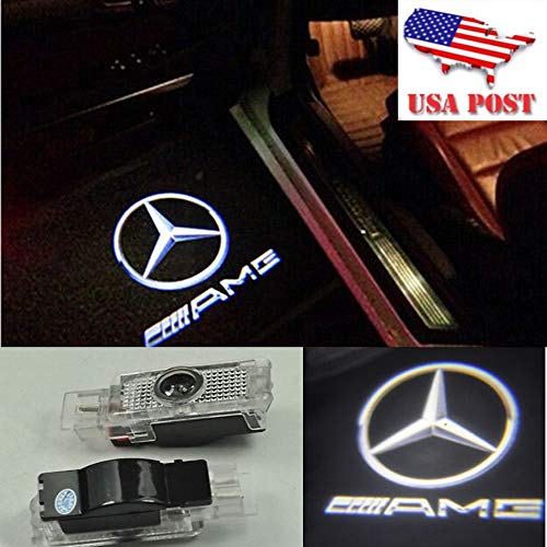 2X LED Door Step Courtesy Light Laser Shadow Logo Projector Lamp For Benz W203 C180 C200 C220 C230 01-07 C208 C209 CLK200 CLK220 01-09 R171 R172 SLK200 SLK300 06-16 R199 SLR 03-09 AMG CNAutoLicht #3