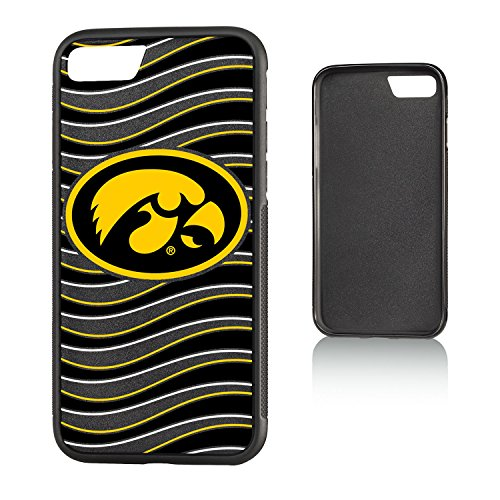 - Keyscaper NCAA Iowa Hawkeyes Wave Bump Case, iPhone 8/7, Black