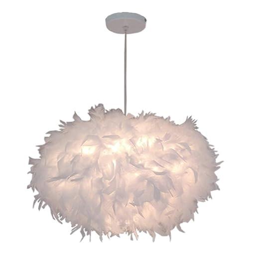 Lámpara de Techo Plumas Colgante Iluminación E27 ⌀45cm ...