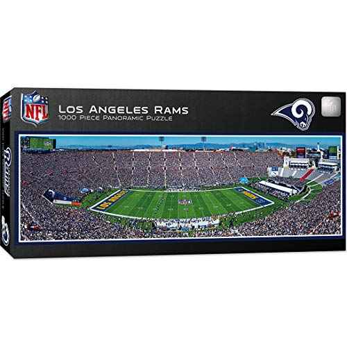 NFL Los Angeles Rams 1000 Piece Stadium Panoramic for Ages 13 & up Jigsaw Puzzle, Assorted, 13' x 39