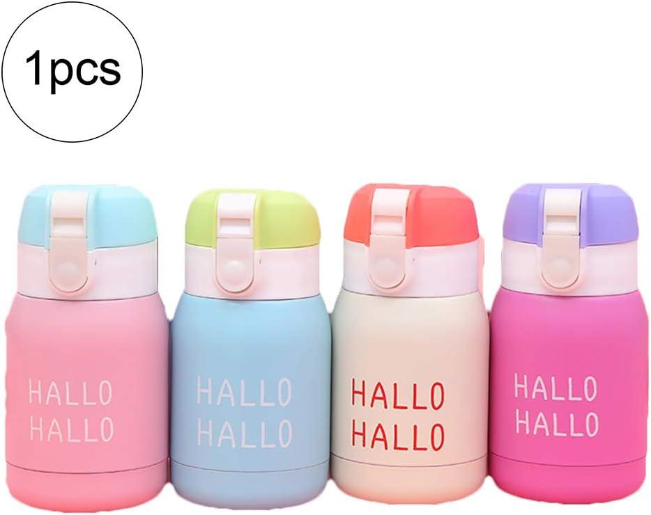 AzuNaisi Mini Botella de Agua para los niños y Adultos de vacío Botella con Material Aislante de café del Viaje del Acero Inoxidable de la Copa Thumbler - 200ml (Color al Azar)