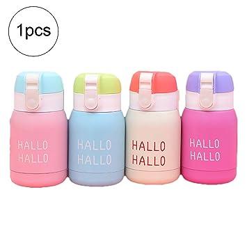 AzuNaisi Mini Botella de Agua para los niños y Adultos de vacío Botella con Material Aislante de café del Viaje del Acero Inoxidable de la Copa ...
