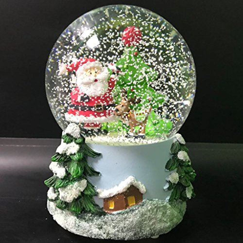 Santa Claus Musical Snow Globe Glitter Dome with Multi lighting, LED water ball (Santa Water)