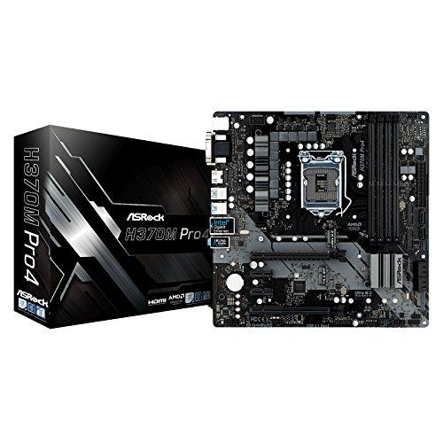 (ASRock H370M PRO4 LGA1151/Intel H370/DDR4/Quad CrossFireX/SATA3&USB3.1/M.2/GbE/MicroATX Motherboard)
