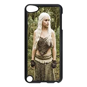 Protective TPU cover case Daenerys Targaryen Game Of Thrones Tv Show iPod Touch 5 Case Black