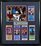 "New England Patriots ""Let's Go Pats!"" Super Bowl Tickets Display (Feat. SB LI Tom Brady) Framed"