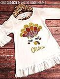 Thanksgiving Dress, Customized Turkey Dress, Ruffle Dress, Monogram Dress