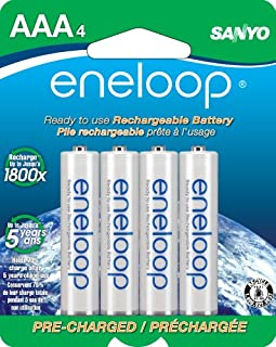 Eneloop 800Mah Typical 750Mah Minimum 1500 Cycle 4-Pack AAA Ni-MH Pre-Charged Rechargeable Batteries (SECHR4U4BPN) (Discontinued by Manufacturer) (B004SB1TD4) | Amazon price tracker / tracking, Amazon price history charts, Amazon price watches, Amazon price drop alerts
