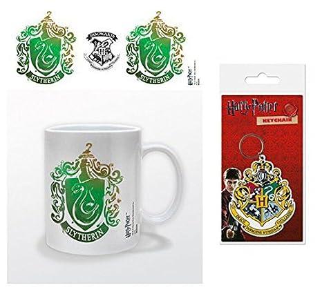 Set: Harry Potter, Slytherin Stencil Crest Taza Foto (9x8 cm ...