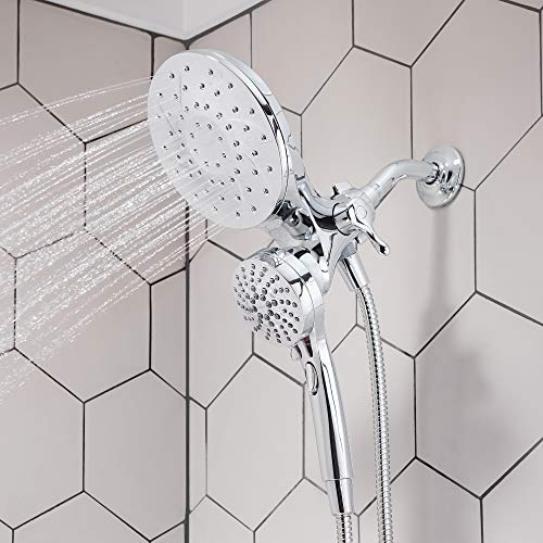 Moen 26009 Engage Magnetix 2.5 GPM Handheld/Rain Shower Head 2-in-1 Combo Featuring Magnetic Docking System, Chrome