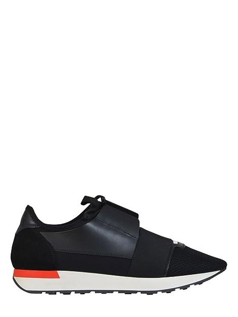 Balenciaga Hombre 458641W0YXD1036 Negro Cuero Zapatillas: Amazon.es: Zapatos y complementos