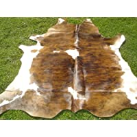 Cowhide Rug Medium Brown Brindle