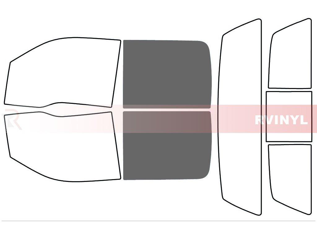 Rtint Window Tint Kit for Ford F-150 2009-2014 4 Door 5/% - Rear Windshield Kit