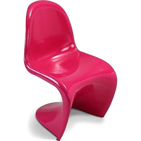 Panton Chair Verner Panton Style   Plastic Gloss Fuchsia
