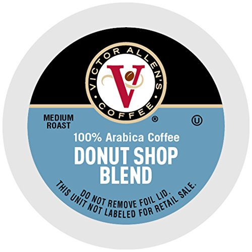 Victor Allen Coffee, Donut Shop Single Serve K-cup, 200 Count (Compatible with 2.0 Keurig Brewers) (Cup Bulk Coffee K)