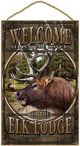 Elk Sign ((SJT96306) Elk Lodge Welcome Sign 10
