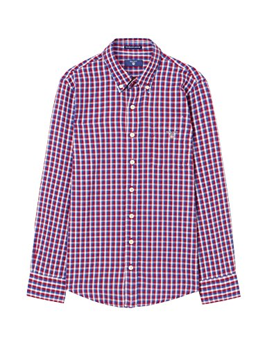 Gant Boy's Red Checked Shirt in Size 9-10 Years (134-140 cm) Red by GANT