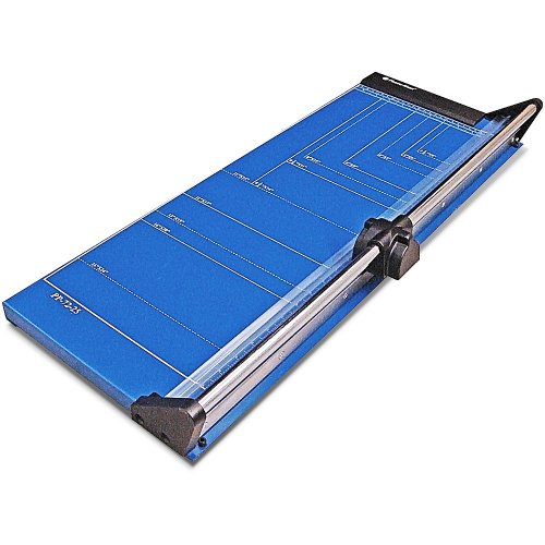 Series Paper Trimmers (Photo-Max Deluxe Series Rotary Paper Trimmer, Self-sharpening, 25 Inches, Royal Blue, Metal Base (PP-72-25))