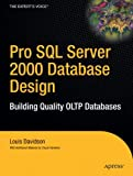 Pro SQL Server 2000 Database Design, Louis Davidson, 1590593022