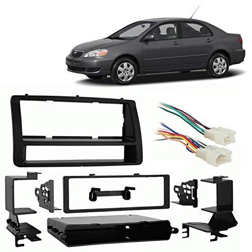 Fits Toyota Corolla 2003-2008 Single DIN Harness Radio Install Dash Kit (Toyota Corolla Storage compare prices)