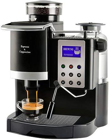 Houozon Cafetera Italiana Espresso Todo en uno, Molinillo y espumador, Control de sobrecalentamiento de Temperatura, Alivio de presión automático, Adecuado para Uso doméstico.: Amazon.es: Hogar